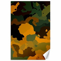 Background For Scrapbooking Or Other Camouflage Patterns Orange And Green Canvas 24  x 36