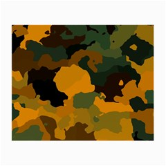 Background For Scrapbooking Or Other Camouflage Patterns Orange And Green Small Glasses Cloth (2-Side)