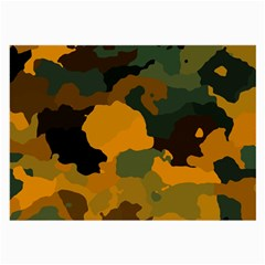 Background For Scrapbooking Or Other Camouflage Patterns Orange And Green Large Glasses Cloth