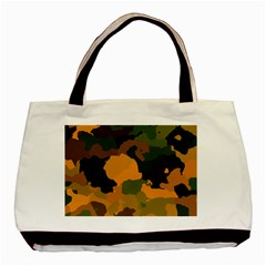 Background For Scrapbooking Or Other Camouflage Patterns Orange And Green Basic Tote Bag (Two Sides)