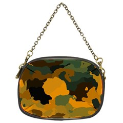 Background For Scrapbooking Or Other Camouflage Patterns Orange And Green Chain Purses (Two Sides)