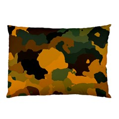 Background For Scrapbooking Or Other Camouflage Patterns Orange And Green Pillow Case