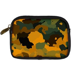 Background For Scrapbooking Or Other Camouflage Patterns Orange And Green Digital Camera Cases