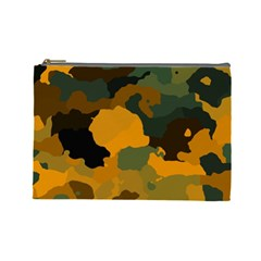 Background For Scrapbooking Or Other Camouflage Patterns Orange And Green Cosmetic Bag (Large)