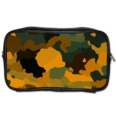 Background For Scrapbooking Or Other Camouflage Patterns Orange And Green Toiletries Bags