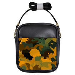 Background For Scrapbooking Or Other Camouflage Patterns Orange And Green Girls Sling Bags