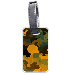 Background For Scrapbooking Or Other Camouflage Patterns Orange And Green Luggage Tags (One Side)