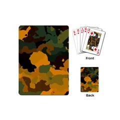 Background For Scrapbooking Or Other Camouflage Patterns Orange And Green Playing Cards (Mini)