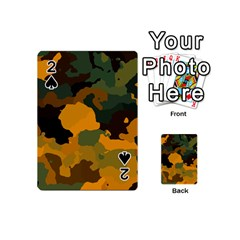 Background For Scrapbooking Or Other Camouflage Patterns Orange And Green Playing Cards 54 (Mini)