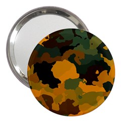 Background For Scrapbooking Or Other Camouflage Patterns Orange And Green 3  Handbag Mirrors