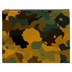Background For Scrapbooking Or Other Camouflage Patterns Orange And Green Cosmetic Bag (XXXL)