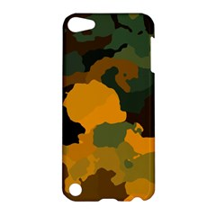 Background For Scrapbooking Or Other Camouflage Patterns Orange And Green Apple iPod Touch 5 Hardshell Case