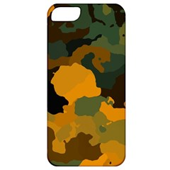 Background For Scrapbooking Or Other Camouflage Patterns Orange And Green Apple Iphone 5 Classic Hardshell Case