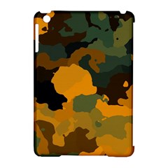Background For Scrapbooking Or Other Camouflage Patterns Orange And Green Apple iPad Mini Hardshell Case (Compatible with Smart Cover)