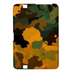 Background For Scrapbooking Or Other Camouflage Patterns Orange And Green Kindle Fire HD 8.9