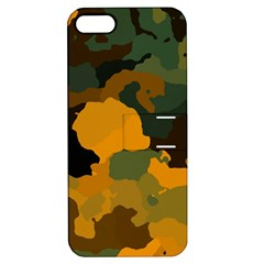 Background For Scrapbooking Or Other Camouflage Patterns Orange And Green Apple Iphone 5 Hardshell Case With Stand