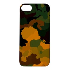 Background For Scrapbooking Or Other Camouflage Patterns Orange And Green Apple Iphone 5s/ Se Hardshell Case