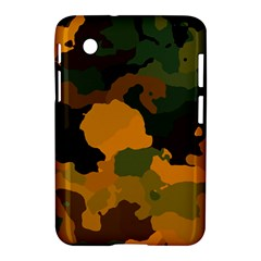 Background For Scrapbooking Or Other Camouflage Patterns Orange And Green Samsung Galaxy Tab 2 (7 ) P3100 Hardshell Case