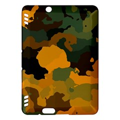 Background For Scrapbooking Or Other Camouflage Patterns Orange And Green Kindle Fire HDX Hardshell Case