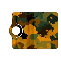 Background For Scrapbooking Or Other Camouflage Patterns Orange And Green Kindle Fire Hd (2013) Flip 360 Case