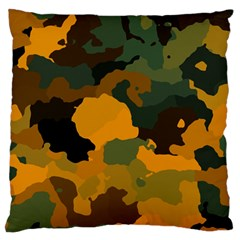 Background For Scrapbooking Or Other Camouflage Patterns Orange And Green Standard Flano Cushion Case (Two Sides)