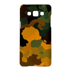 Background For Scrapbooking Or Other Camouflage Patterns Orange And Green Samsung Galaxy A5 Hardshell Case