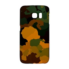 Background For Scrapbooking Or Other Camouflage Patterns Orange And Green Galaxy S6 Edge
