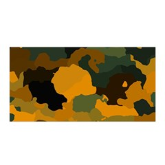 Background For Scrapbooking Or Other Camouflage Patterns Orange And Green Satin Wrap