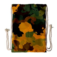 Background For Scrapbooking Or Other Camouflage Patterns Orange And Green Drawstring Bag (Large)