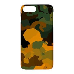 Background For Scrapbooking Or Other Camouflage Patterns Orange And Green Apple Iphone 7 Plus Hardshell Case