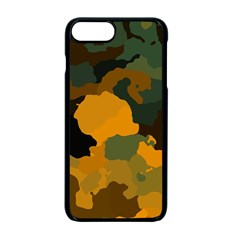 Background For Scrapbooking Or Other Camouflage Patterns Orange And Green Apple Iphone 7 Plus Seamless Case (black)