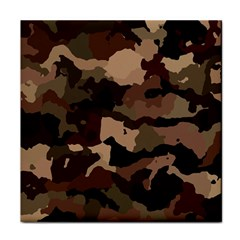Background For Scrapbooking Or Other Camouflage Patterns Beige And Brown Tile Coasters