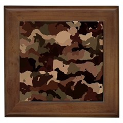 Background For Scrapbooking Or Other Camouflage Patterns Beige And Brown Framed Tiles