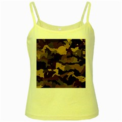 Background For Scrapbooking Or Other Camouflage Patterns Beige And Brown Yellow Spaghetti Tank