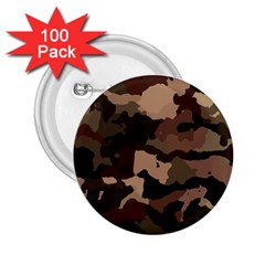 Background For Scrapbooking Or Other Camouflage Patterns Beige And Brown 2.25  Buttons (100 pack)