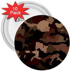 Background For Scrapbooking Or Other Camouflage Patterns Beige And Brown 3  Buttons (10 pack)