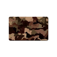 Background For Scrapbooking Or Other Camouflage Patterns Beige And Brown Magnet (Name Card)