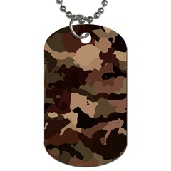 Background For Scrapbooking Or Other Camouflage Patterns Beige And Brown Dog Tag (One Side)