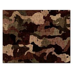 Background For Scrapbooking Or Other Camouflage Patterns Beige And Brown Rectangular Jigsaw Puzzl