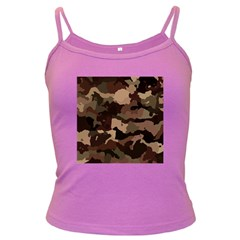 Background For Scrapbooking Or Other Camouflage Patterns Beige And Brown Dark Spaghetti Tank