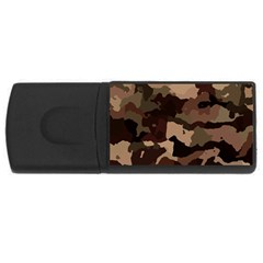 Background For Scrapbooking Or Other Camouflage Patterns Beige And Brown USB Flash Drive Rectangular (4 GB)