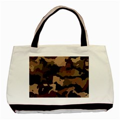 Background For Scrapbooking Or Other Camouflage Patterns Beige And Brown Basic Tote Bag