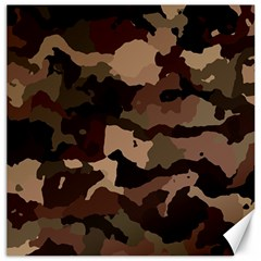 Background For Scrapbooking Or Other Camouflage Patterns Beige And Brown Canvas 12  x 12