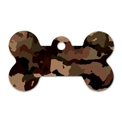 Background For Scrapbooking Or Other Camouflage Patterns Beige And Brown Dog Tag Bone (One Side)