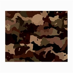 Background For Scrapbooking Or Other Camouflage Patterns Beige And Brown Small Glasses Cloth (2-Side)