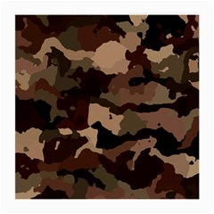 Background For Scrapbooking Or Other Camouflage Patterns Beige And Brown Medium Glasses Cloth (2-Side)