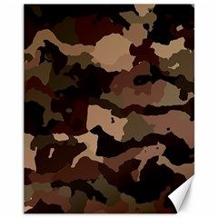 Background For Scrapbooking Or Other Camouflage Patterns Beige And Brown Canvas 11  X 14
