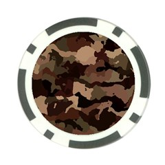 Background For Scrapbooking Or Other Camouflage Patterns Beige And Brown Poker Chip Card Guard