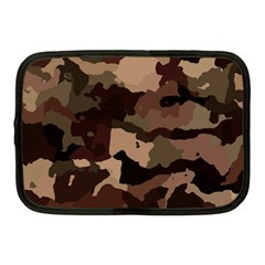 Background For Scrapbooking Or Other Camouflage Patterns Beige And Brown Netbook Case (Medium)