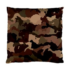 Background For Scrapbooking Or Other Camouflage Patterns Beige And Brown Standard Cushion Case (Two Sides)
